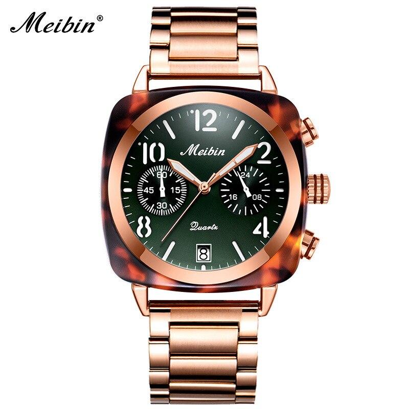 2019 Fashion Longbo Square Unisex Watch Men Ladies Quartz Casual Full Golden Steel Reloj Hombre Date Women Dress Wrist Watches Quartz Watches     - title=