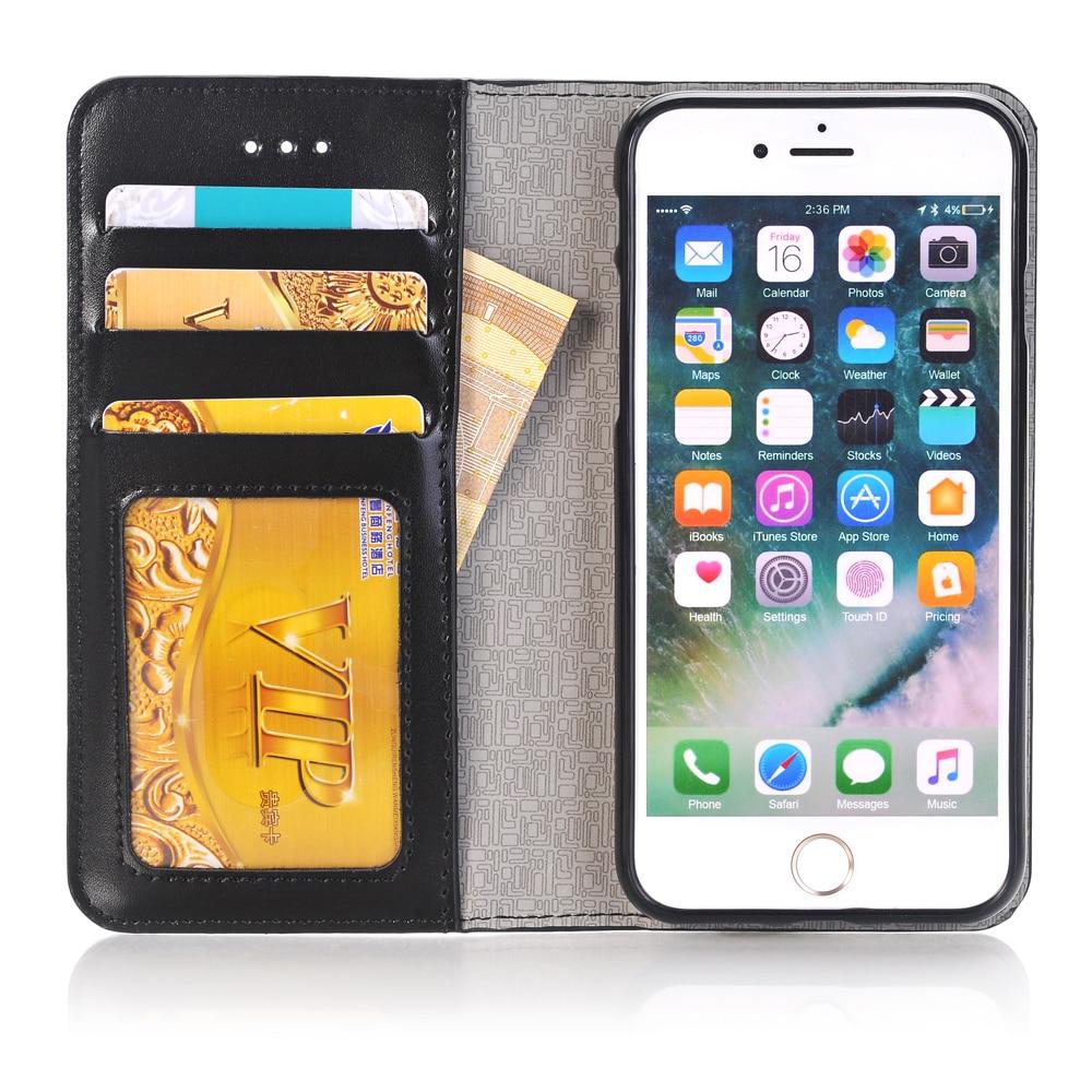1 iPhone 7 Üçün Pul kisəsi Holster Flip Case, Apple iPhone7 Kart - Cib telefonu aksesuarları və hissələri - Fotoqrafiya 3