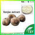 Preço de fábrica fornecimento de Amorphophallus Konjac Extrair/pó Glucomannan 500 g/lote