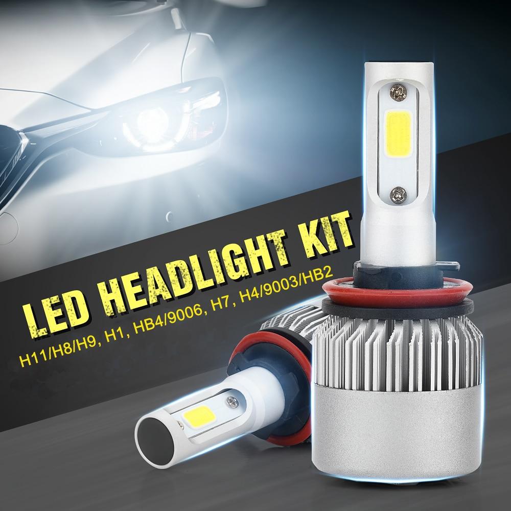 1 Pair LED Car Headlight H1 H7 H4/HB2/9003 H8/H11 HB4/9006 Replacement Bulbs Fog Light Auto Headlamp Car-styling 200W/set 6000K