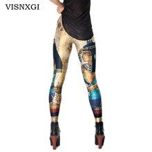 VISNXGI Vintage Trousers Fashion Cleopatra Leggings Digital Printed Sexy Women Legging Plus Size Egypt Pharaoh Pattern Leggings