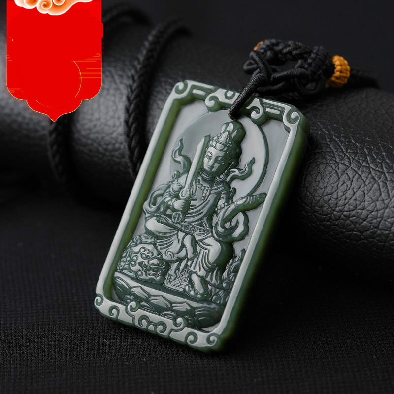Ling Fei Kaiguang et Tian Qingyu 12 pendentif bouddha zodiaque vide bouddhisme tibétain Manjusri bouddha immortel
