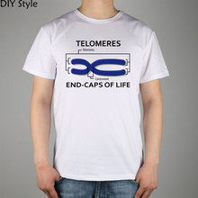 SCIENCE BIOLOGY telomeres centromere end-caps of life T-shirt Top Lycra Cotton Men T shirt New DIY Style