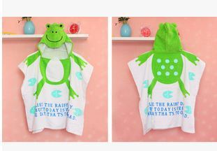 new Animal shape baby hooded bathrobe 100% cotton baby bath towels kids super soft good water imbibition toallas baby beach gown