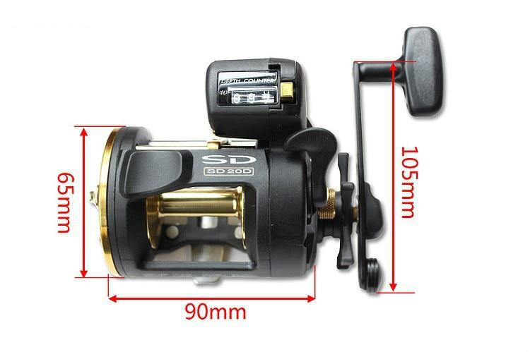 Okuma SD-20d 3 csapágyak öv számláló fém horgászkerék dob dob - Halászat - Fénykép 2