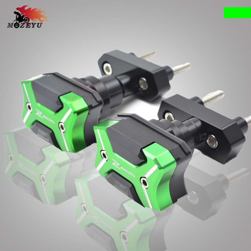 Motorcycle Frame Slider Anti Crash Protector CNC Aluminum Green Left and Right  For KAWASAKI Z800 ZR800 Z 800 ZR 800 MotoMotorcycle Frame Slider Anti Crash Protector CNC Aluminum Green Left and Right  For KAWASAKI Z800 ZR800 Z 800 ZR 800 Moto