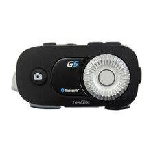 G5Pro 500m 4 רוכבי קבוצת אינטרקום HD 1080P וידאו מקליט מצלמה אופנוע Bluetooth קסדת אוזניות עבור Fulll פנים קסדת