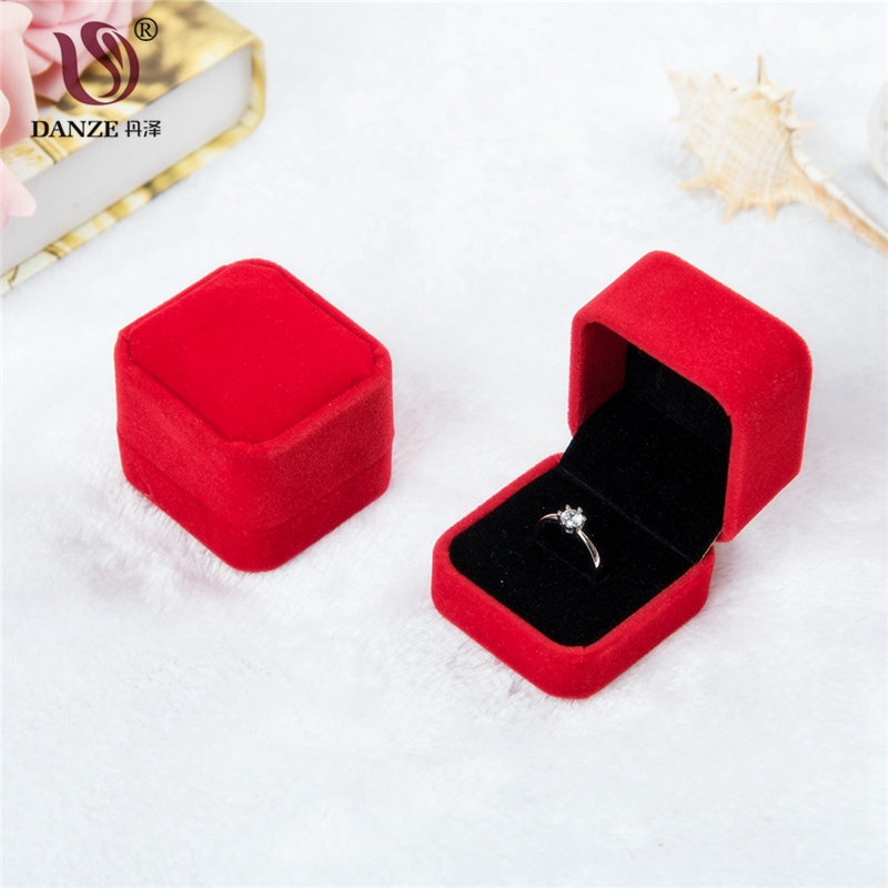 DANZE 1 pcs Multi Color 40*50*45mm Ring Earring Small Carton Present Square Gift Box Case For Jewelry Gifts Dropshipping