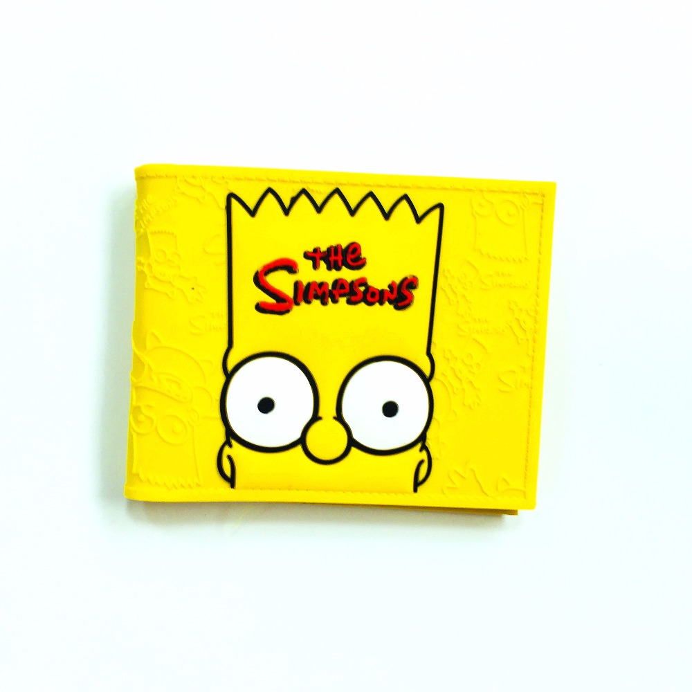 2018 The Simpsons Bart Homer Wallet Men's Guitar Cartoon Wallet Bart Plastic Leather Wallet W994Q футболка print bar the dark bart