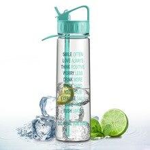 900 ml Zeit Markierungen Messungen Sport Wasserflasche Straw Outdoor Fitness Workout Hydrat BPA FREI Bike Portable Weihnachtsgeschenk