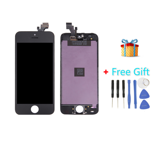 iPartsBuy 3 in 1 for iPhone 5 (LCD + LCD Frame + LCD Touch Pad + Free Gift ) Digitizer Assembly