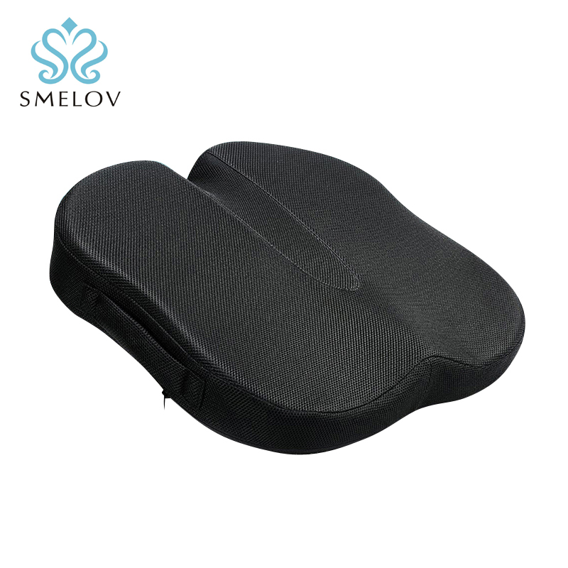 Luxury Butterfly Shape Office Chair Seat Cushion Memory Foam Orthopedic Coccyx Car Wheelchair Kitchen Chair Seat Cushion Pillow