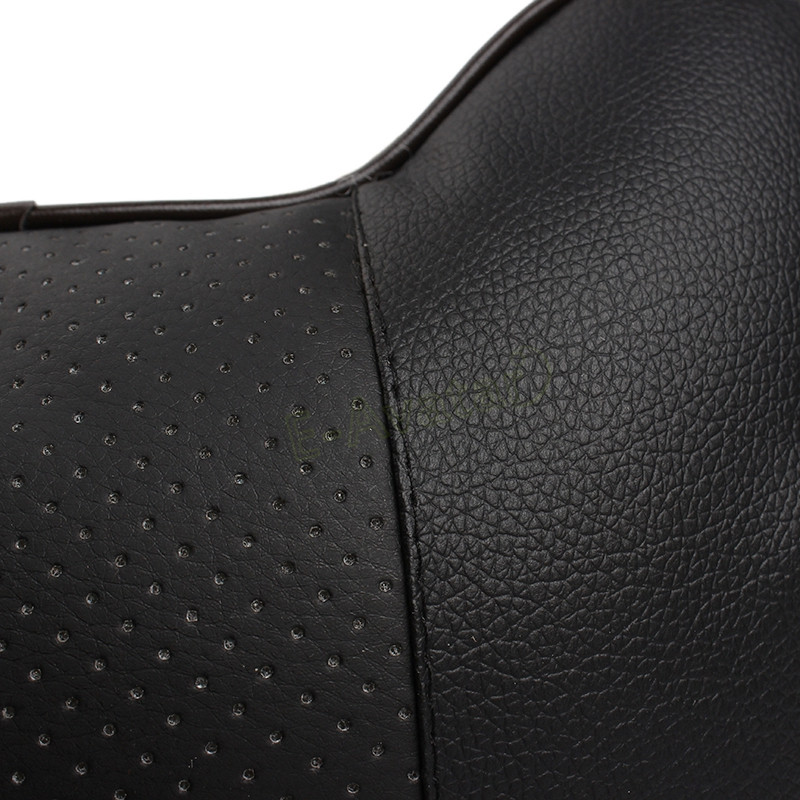 HQ Leather Car Neck Pillow for Auto Safety