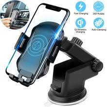 DCAE 10W Qi Car Wireless Charger For iPhone X XS XR 8 Automatic Phone Holder Fast Charging Air Vent Mount Samsung S10 S9