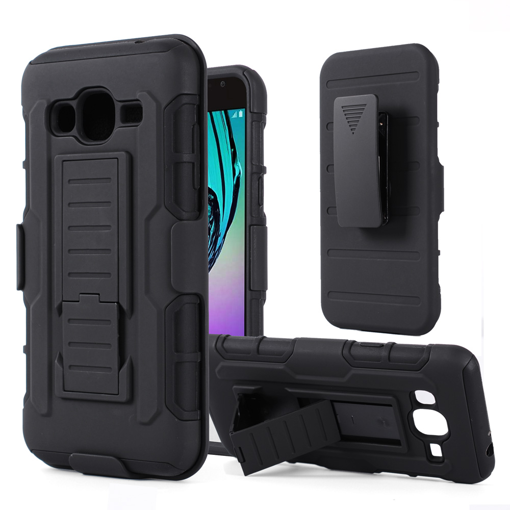 Cover For Samsung Galaxy J3 Rugged Armor Case Belt Clip Holster Stand Case For Samsung J5 2015 S7 Edge S7 S6 S5 S4 S3 J2 J5 J7