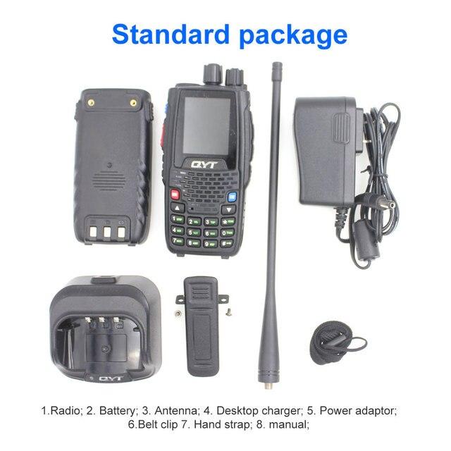Qyt kt-8r quad band handheld radio