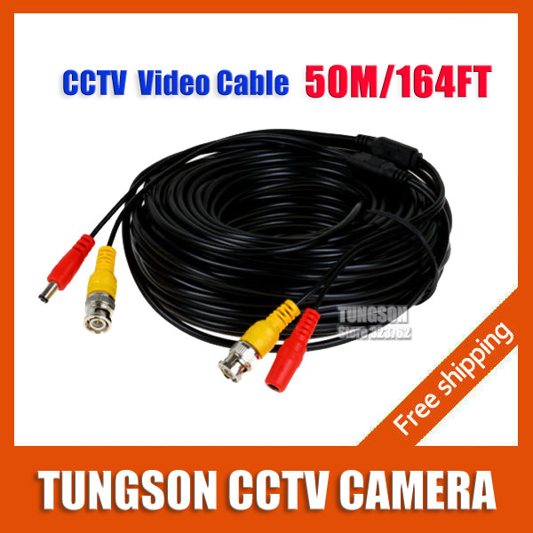 ФОТО 50M /164Feet Security AHD Camera Power Cable for CCTV BNC Video Surveillance Cable DVR System Installation Free Shipping
