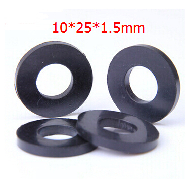 100pcs Oil resistant rubber sealing Washers faucet washers 10x25x1 ...