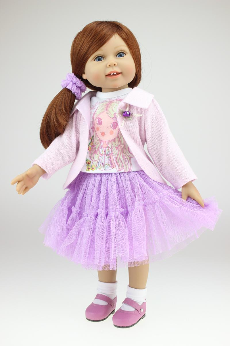 American girl dolls Vinyl lifelike simulation doll pricess play house girl brinquedos kid birthday christmas gifts baby doll toy lifelike american 18 inches girl doll prices toy for children vinyl princess doll toys girl newest design