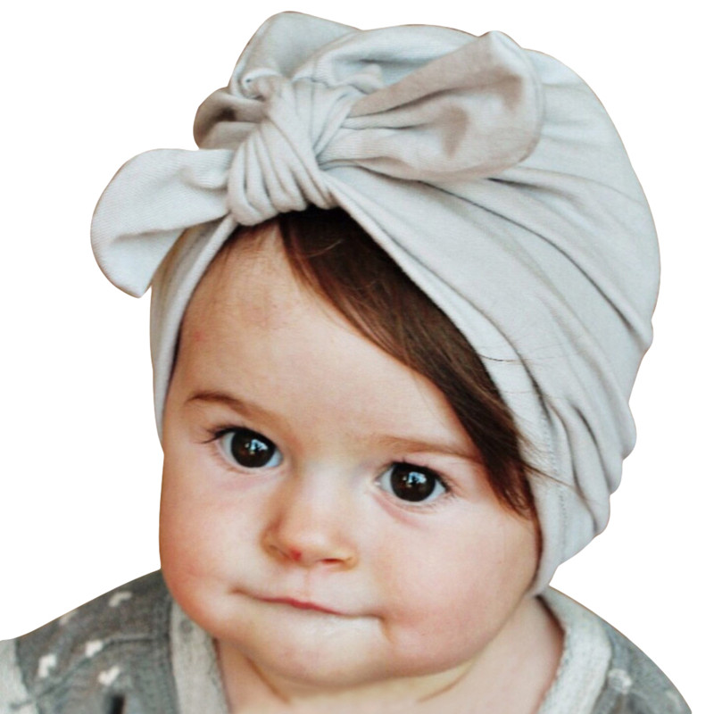 7 Colors Rabbit Ears Beanie Baby Girls Boys Toddler Cotton Soft Turban Knot Cap Beanie Hat Rabbit Ears Knot Child Caps lovely toddler first walkers baby boys and girls cotton shoes soft bottom hook sneakers i love mom dad