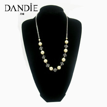 Dandie Transparent Acrylic Bead And White Imitation Pearl Necklace, New Design Jewelry