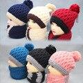 Новый зима теплая шерсть шляпы шарф для женщин лыжный шляпу и cap вязание зимние шапки зимние теплую шапку шарф набор хип-хоп лыжный