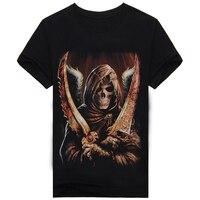 2017 Cool Shirts Skull Man The Punisher Skull Short Sleeve T Shirt Men Clothing Hip Hop