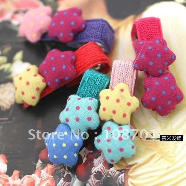 New arrival -Wholesale Korean style Kid's colorful star and heart design hair barrettes /kid's hairpin Free Shipping