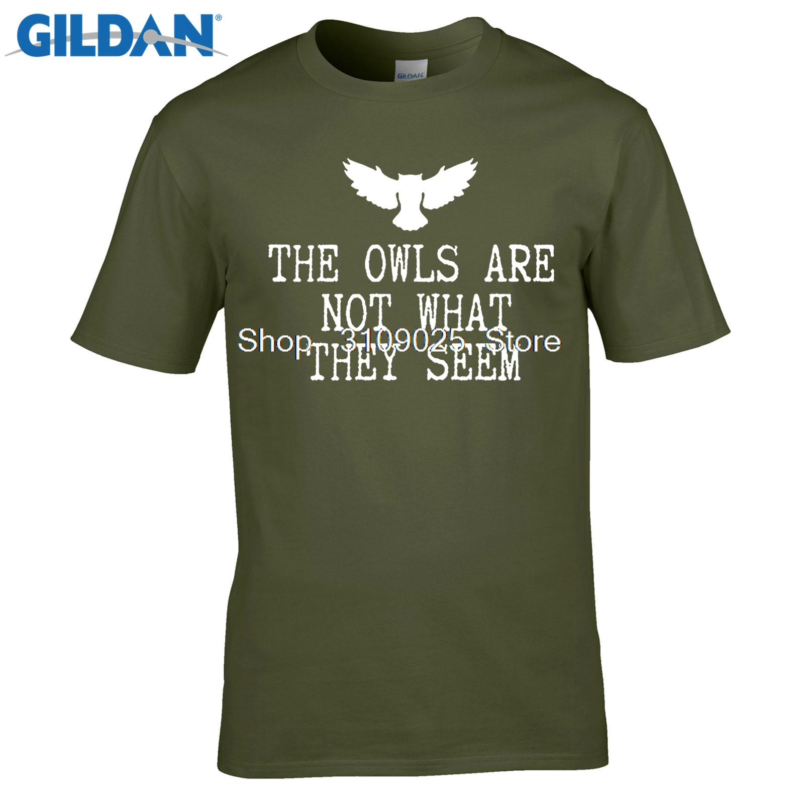 GILDAN men fashion brand t shirt 2017 new arrival Classic Owls Riddle - Twin Peaks - Dark T-Shirt 100% cotton O-Neck T Shirt