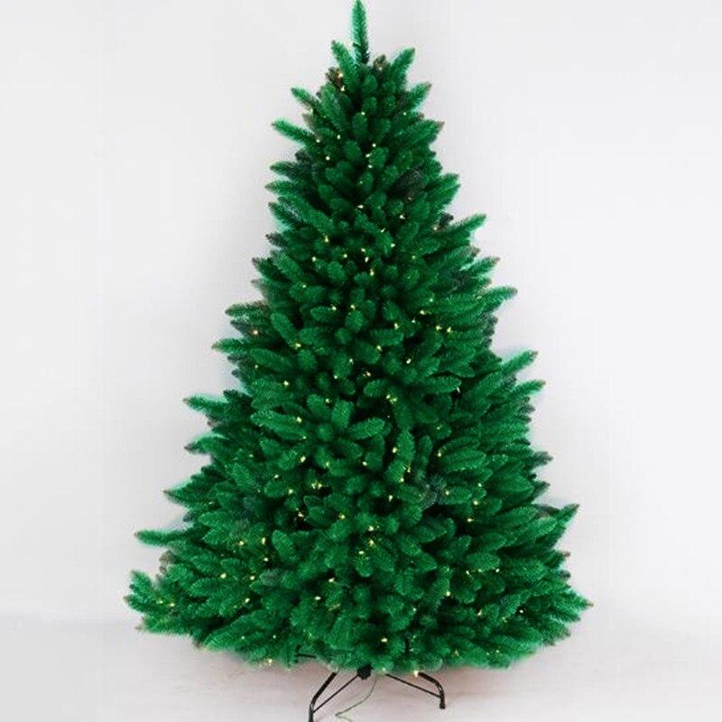 1.2 m-2.4 m luminoso albero Di Natale PVC albero foglie di centro commerciale layout di festa Di Natale decorazione