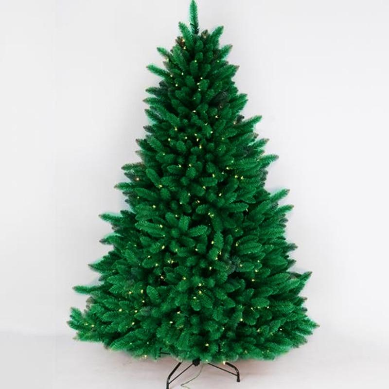 1 2 m 2 4 m luminous Christmas tree PVC leaves Christmas mall festival layout decoration