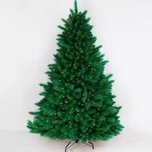 М 2,4 М-пластиковые листья м светящаяся Рождественская елка Выставка декораций Рождественский торговый центр фестиваль 1,2