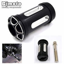 FP-005-BK Motorcycle CNC Billet Aluminum Edge Cut Shifter Shift Peg For Harley Touring Softail Sportster Dyna Black