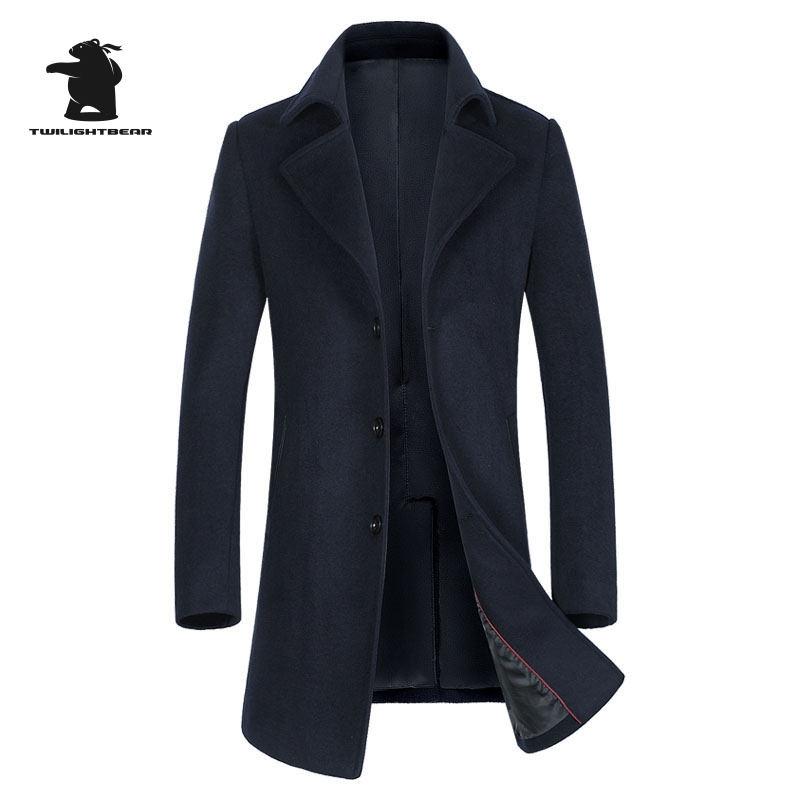 Mens Wool Coat Winter Designer Fashion High Quality Plus Size Wool Parka Coat For Men Overcoat Casaco Masculino BF1871