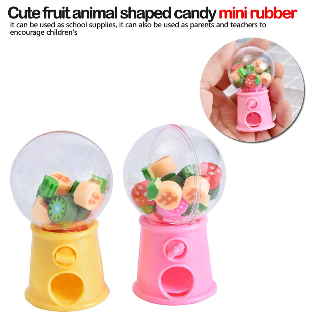 Cute Fruit Eraser Kawaii Bottle Rubber Erasers For Kids Gilrls Gift School Supplies Novelty Items Stationery
