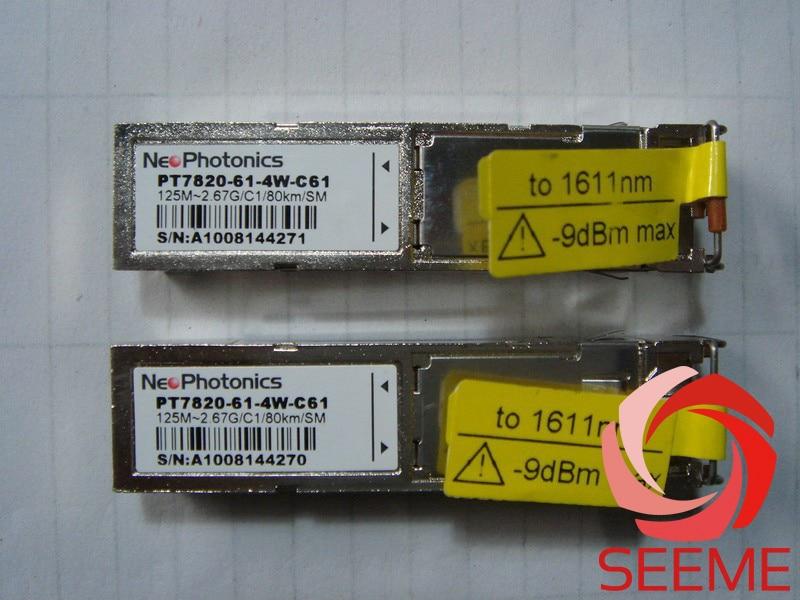NeoPhotonics PT7820-61-4W-C61, 125M-2.67G 80km Fiber Optic Equipment ModuleNeoPhotonics PT7820-61-4W-C61, 125M-2.67G 80km Fiber Optic Equipment Module
