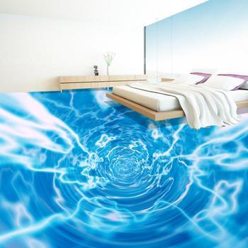 3D floor wallpaper ocean theme creative 3d floor pvc waterproof self-adhesive for kitchen bathroom