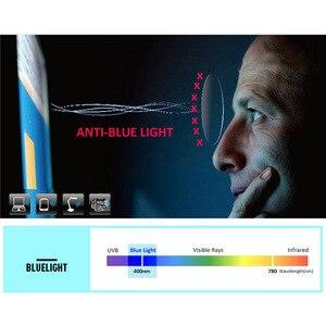 Image 5 - ESNBIE Индивидуальные компьютерные очки, Индекс 1,56, против синего цвета, линзы по рецепту, одиночный фокус, мужские и женские оптические Линзы для очков