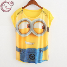 new 2017 Summer Style Women Cartoon Minions Harajuku Series T Shirts Short Sleeve Casual Tee Printed