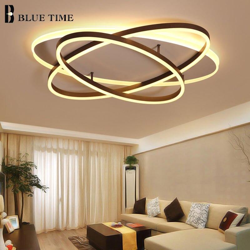 Кольца акриловые современный светодио дный потолочные светильники для Гостиная Спальня Кухня светодио дный потолок домашние светильники