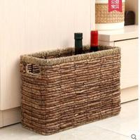 Japanese straw magazine basket storage basket magazine basket rectangular storage basket