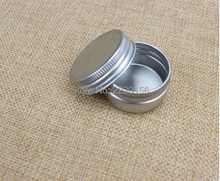 500pcs Free Shipping 5ml Aluminium Balm Tins pot Jar 5g containers with screw thread Lip Balm Gloss Candle Packaging bottle
