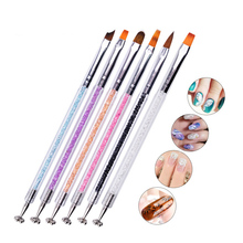1 piece Nail Art Brush Magnet Slice Double Head Stick Tool For 3D Magnetic Cat Eye Gel Magic Acrylic Brushes