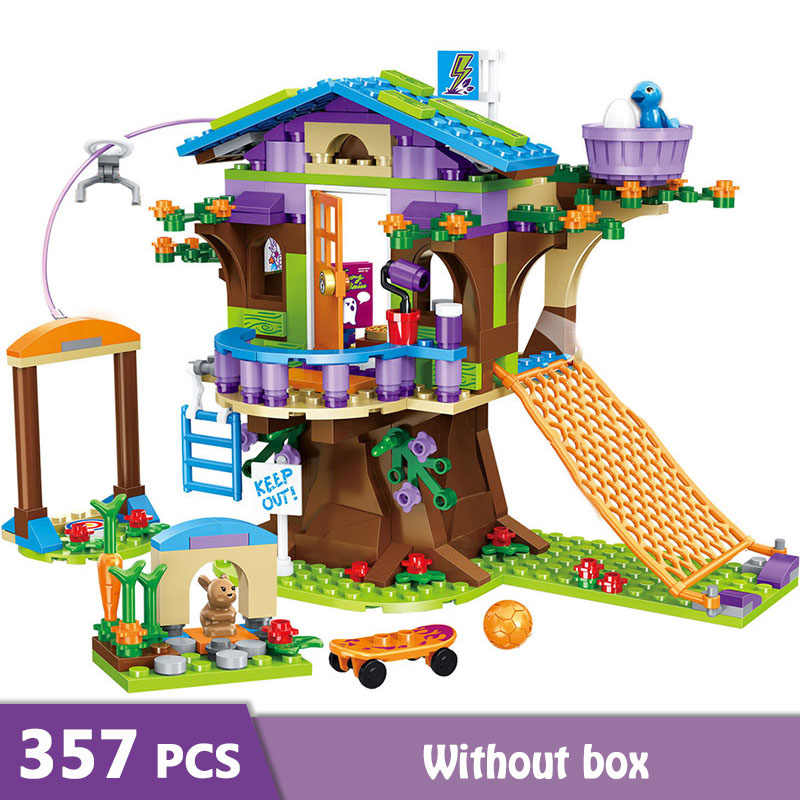 357pcs  Mia's Tree House Building Blocks Girls Friends Playmobil Bricks Figures Toys For Children Stacking Blocks GB02