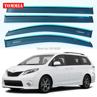 tommia Brand New For Toyota Sienna Window Visor Shade Vent Wind Rain Deflector Guards Cover 4pcs/Set