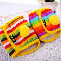 Hoopet Dog Diaper Reusable Belly Band Cotton Physiological Underwear Wrap Nappy Colorful Pets Sanitary Pants For