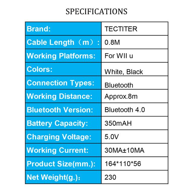 For Nintend For Wii U Pro Controller USB Classic Dual Analog Bluetooth Wireless Remote Controle For WiiU Pro U Gamepad