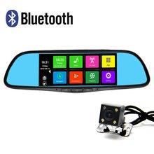 7 дюймов Специальные Android 4.4 Автомобильный ВИДЕОРЕГИСТРАТОР Двойной Объектив Камеры Заднего Вида зеркало Full HD 1080 P gps Bluetooth WI-FI FM Карта ROM 16 ГБ
