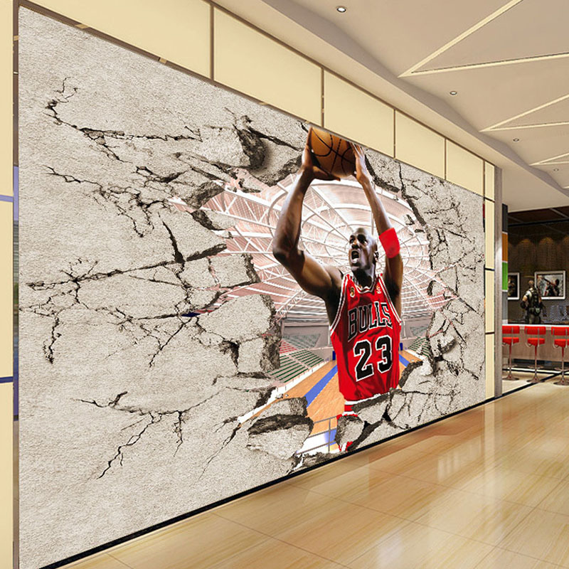 large basketball wall stickers decals students sports adhesive ...