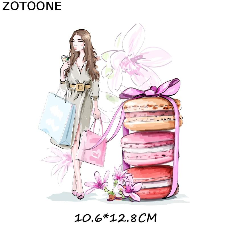 """ZOTOONE железные нашивки на одежду Diy полоски 3D аппликация """"Девочка"""" теплопередача для украшения из ткани наклейки для детей G - Цвет: 237"""